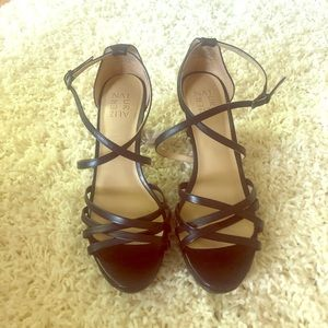 Naturalizer Black Strappy Sandals